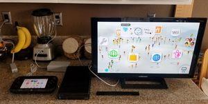 Complete Nintendo Wii U Bundle W/32 Inch Tv for Sale in Ontario, CA