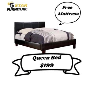 Queen Bed With Free Mattress For $199 Cash for Sale in Dallas, TX
