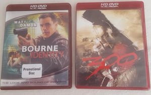 HD DVD Movies, Bourne Identity and The 300 Gerard Butler for Sale in Riverside, CA