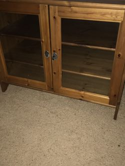 TV Stand Real wood Pine Media cabinet for Sale in Woodway,  WA