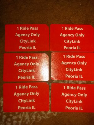 (VALID) CITYLINK BUS PASSES for Sale in Pekin, IL