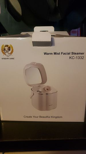Kingdom Cares Warm Mist Facial Steamer KC-1332 with Make Up Mirror for Sale in Pomona, CA