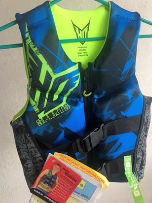 New life jacket youth size 50-90 lbs for Sale in Clearwater, FL