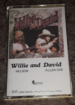 Willie Nelson and David Allen Coe Cassette Tape for Sale in Tacoma, WA