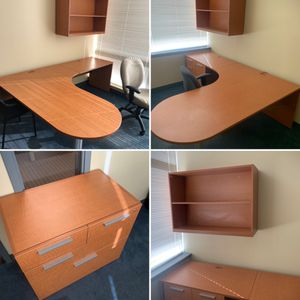 L Desks w/ Matching Bookshelves for Sale in Boothwyn, PA