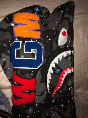 Bape space camo shark full zip hoodie for Sale in Roselle, IL