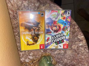 Nintendo switch Mortal Kombat, and Super Mario Party for Sale in Baldwin Park, CA