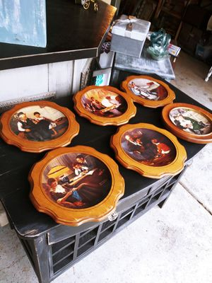 Vintage Norman Rockwell Plates set of 6 Wall Art! for Sale in Joliet, IL