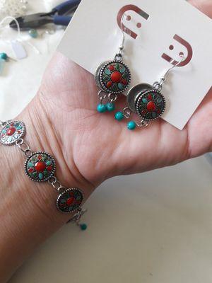 Vintage silver earrings and bracelet set for Sale in Decatur, GA