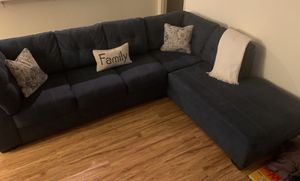 Slightly Used Blue Couch for Sale in Long Beach, CA