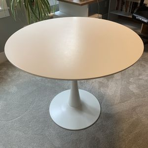 Modern Round White Dining Table for Sale in Portland, OR