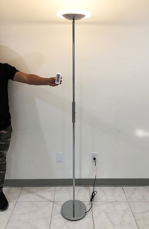 (NEW) $40 LED 6' Tall Floor Lamp w/ Wireless Remote Light Dimmable & Tilt Left/Right for Sale in El Monte, CA