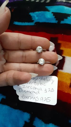 Vintage sterling silver cubic zirconia diamond for Sale in Lakewood, WA