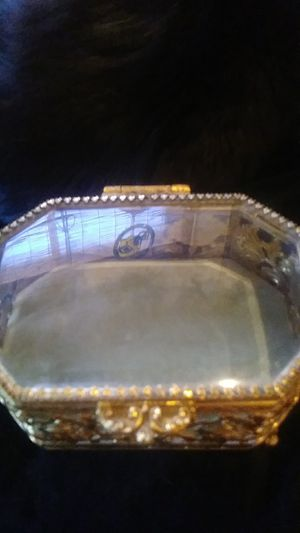 Collectable Jewelry Box Glass Top for Sale in Glendale, AZ