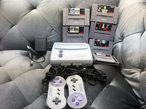 SNES Super Nintendo Mini Jr Console OEM With Two Controllers And Six Games for Sale in Fresno, CA