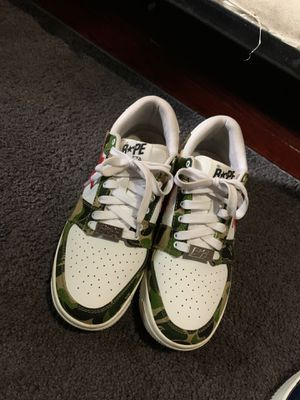 bape star camo sneakers size 9 for Sale in Washington, DC