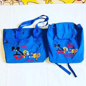 VTG Authentic Walt Disney world Embroidered graphic shoulder & back bag Blue for Sale in Cockeysville, MD