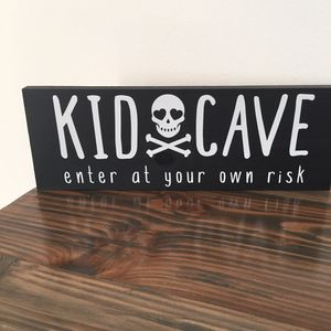 Kid Cave sign wood handmade for Sale in Costa Mesa, CA