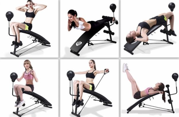 NEW Portable Adjustable Incline Workout Abs Sit Up Bench Core Fitness Strength Home Training Gym