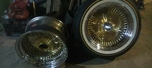 "17"" player wire wheels, twotone for Sale in Florissant, MO"