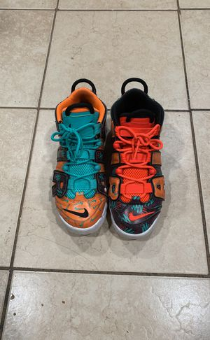 """Nike air more uptempo (gs) """"whats the 90's"""" for Sale in Manassas, VA"""