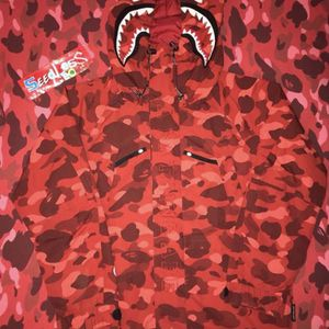 Bape Red Camo Shark Snowboard Jacket for Sale in Simi Valley, CA