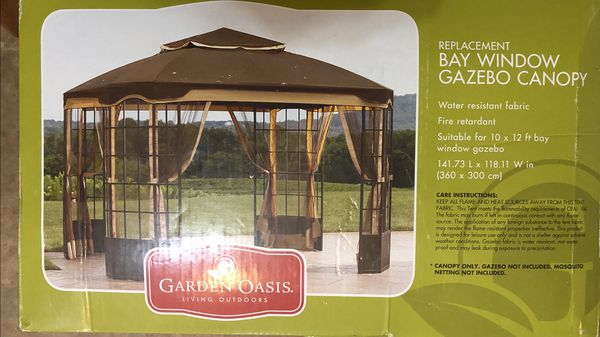 Replacement Canopy for 10 x 12 ft Bay Window Gazebo