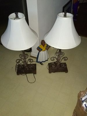 1pair heavy metal table lamps for Sale in Franconia, VA