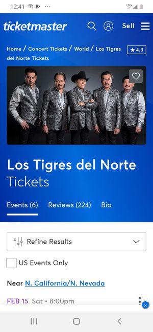 Un ticket para el concerto de esta noche for Sale in Oakland, CA