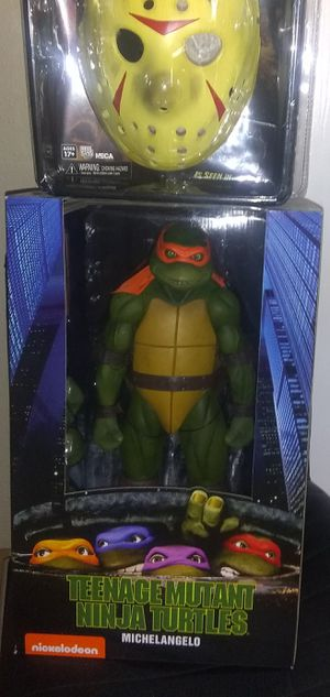 NECA Teenage Mutant Ninja Turtles Michelangelo 1/4 Scale for Sale in Tampa, FL