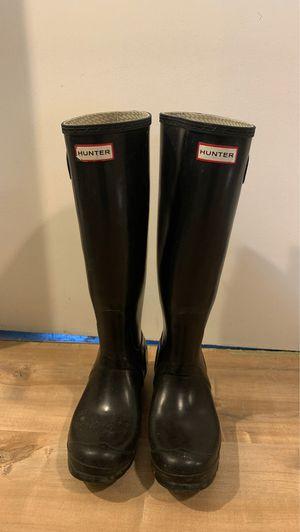 Women's hunter tall gloss rain boots for Sale in Spokane Valley, WA