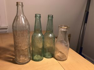 Vintage detroit glass bottles for Sale in Windsor, ON