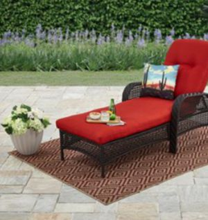 New!! Outdoor chaise lounge, patio relaxing chair, 5 positions outdoor recliner, outdoor furniture, red for Sale in Phoenix, AZ