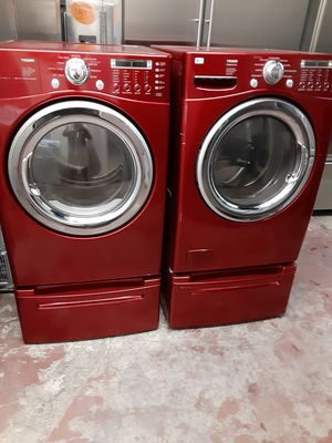 Red lg washer and gas dryer $900.00 for Sale in HUNTINGTN BCH, CA