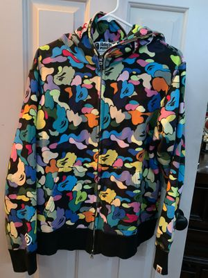BAPE multicolor shark hoodie SIZE XL RUNS SMALL🦍 for Sale in Conyers, GA