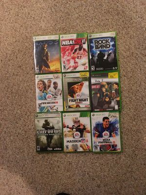Xbox 360 games 9 total for Sale in Richboro, PA