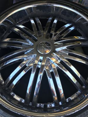 22 INCH 5 LUG universal chrome rims for Sale in Middle River, MD