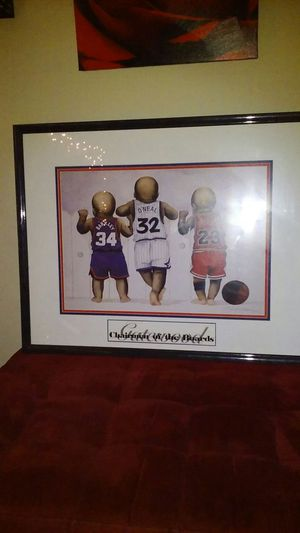 Charles Barkley , O'neal and Jordan Picture Frame for Sale in Orlando, FL