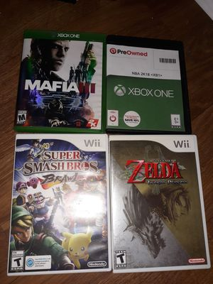 Wii & xbox one games for Sale in Charleston, MO