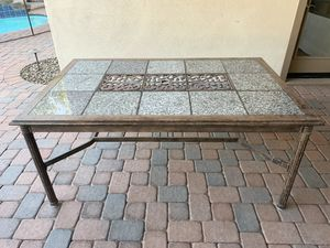 Heavy duty Wrought Iron Patio Table for Sale in Chandler, AZ