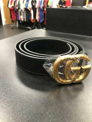 224b201f063 Men s Luxury Leather Belt Black Gold Holeless for Sale in Morgan ...