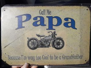 Call me papa tin sign for Sale in Taunton, MA