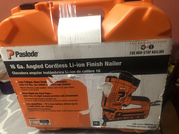 New paslode finish nailer 16ga