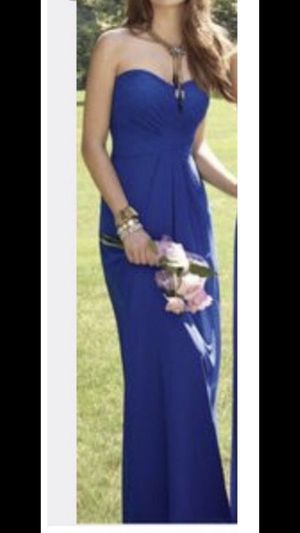 Royal Blue Long Strapless Dress by Camille for Sale in Chino Hills, CA