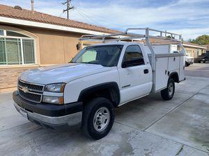 2005 Chevy Silverado 2500 HD Utility Work Truck Runs Good for Sale in El Monte, CA