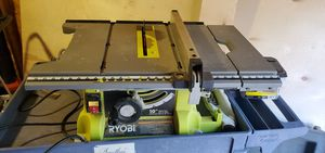 RYOBI 15 Amp 10 in. Table Saw with Folding Stand for Sale in Portland, OR