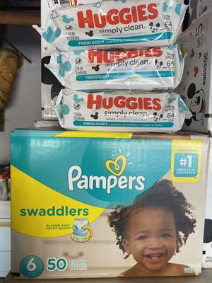 Pampers swaddlers size 6 bundle for Sale in Moreno Valley, CA
