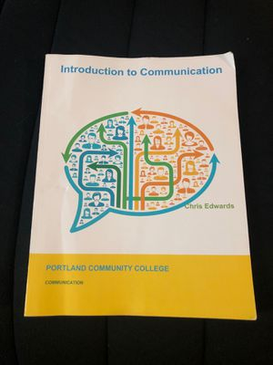 Intro to Communication Textbook for Sale in Portland, OR