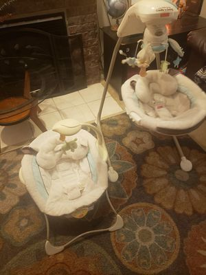 Fisher Price My Little Lamb Cradle and Swing and Bouncer Seat for Sale in Portland, OR