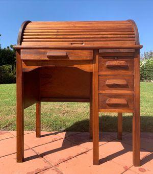 19th century solid wood roll top junior desk for Sale in Encinitas, CA